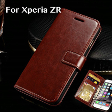 Luxury Leather Case For Sony Xperia ZR Flip M36H Wallet Silicone Soft TPU Horse