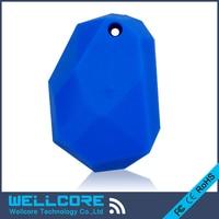 2pcs Lot NRF51822 Eddystone Beacons Blue Silicone Waterproof BLE 4 0 Bluetooth Beacon Eddystone
