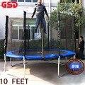 Gsd primavera de alta qualidade 10 pés trampolim com rede segura se encaixa escada e 4 perna tuv-gs foi a aprovação