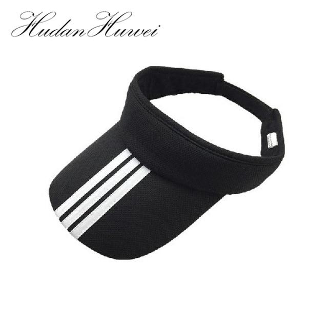 5dcd12bb79e10 Summer Outdoor Sport Top Air Caps for Men Women Plain Striped Adults Cotton Visor  Cap Golf Sun Visors Running Hat