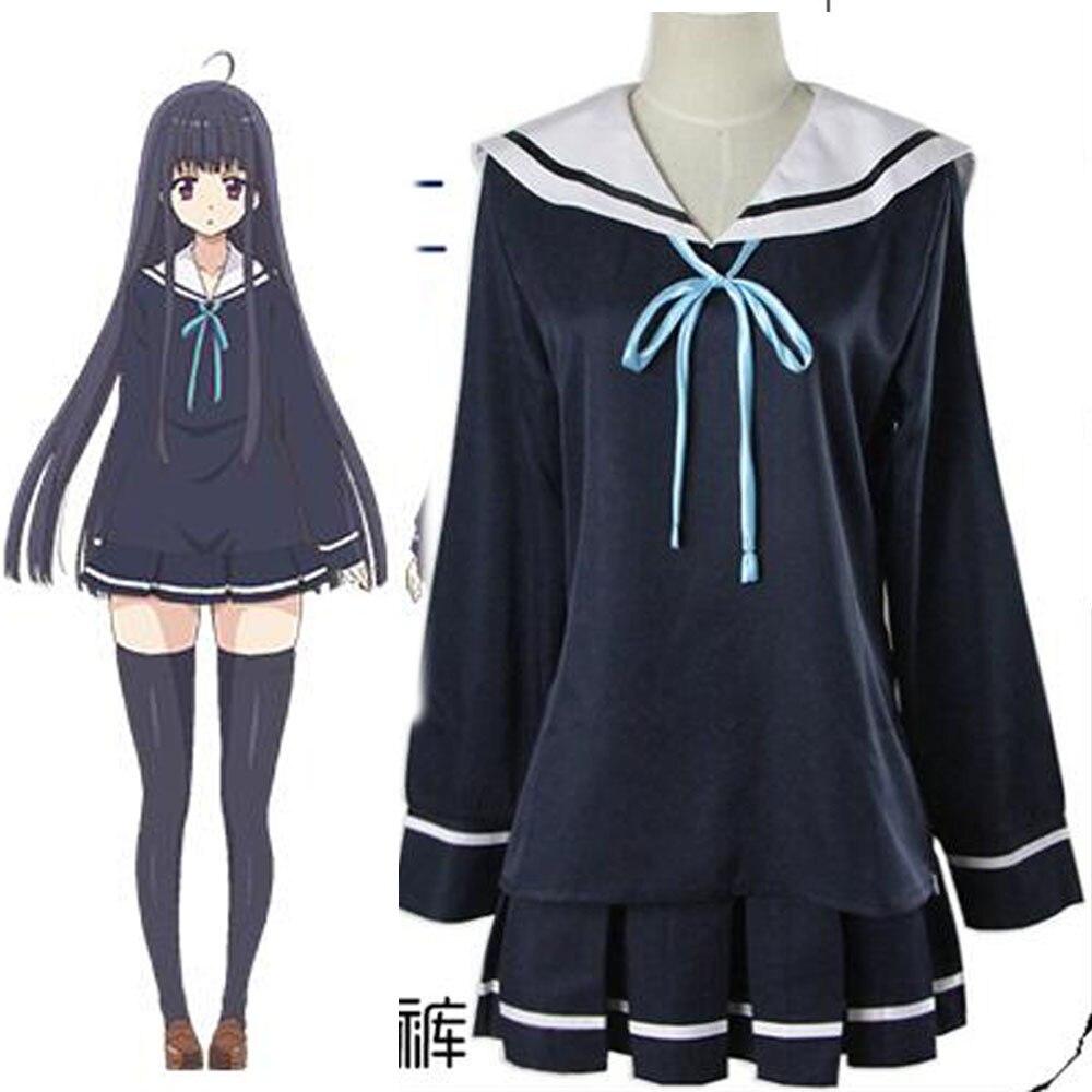 Dress up diary baju pelaut - Nikaidou Kaho Takahashi Kanade Love Monster Cosplay Costume School Uniform Girls Uniform Sailor Dress Outfit