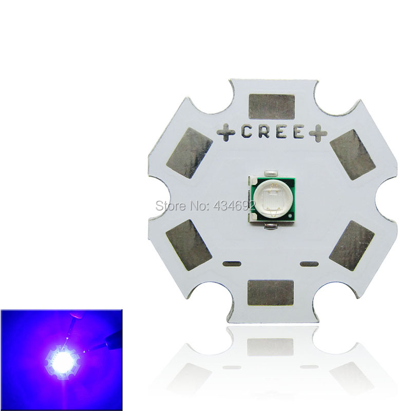 Wholesale 3W Epileds 430NM 435NM UV Purple Led Emitter Lamp Light On 8MM 12MM 14MM 16MM