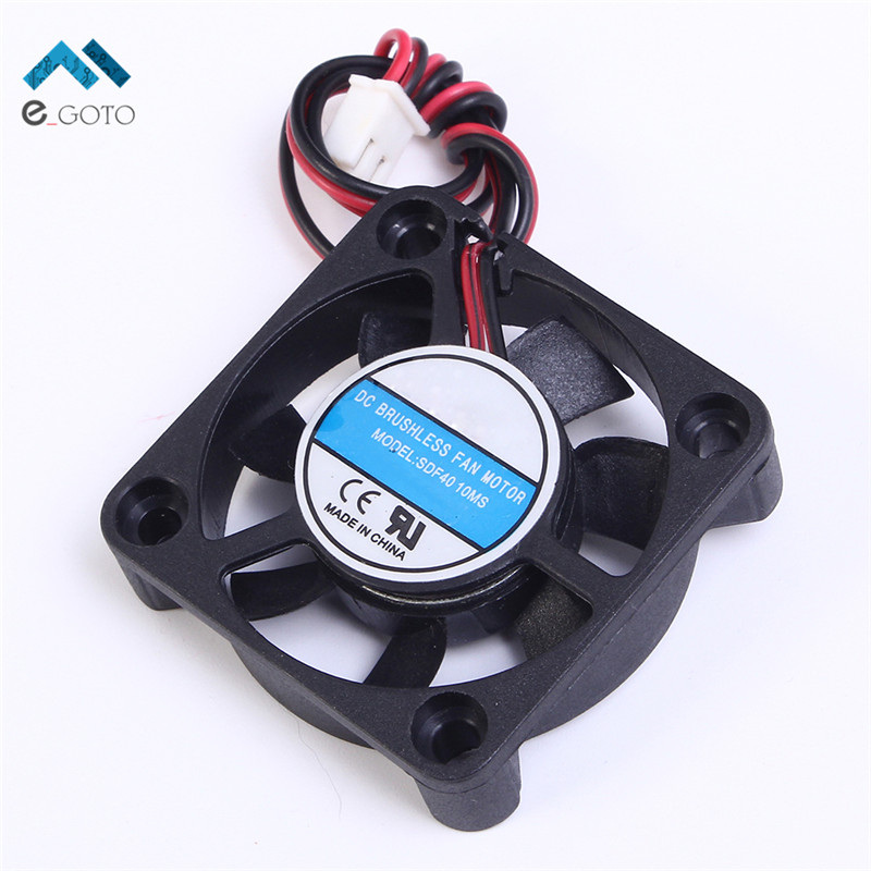DC 12V 120mA Two Wire Silent Fan A Type Interface Portable Computer Cooler Fan Heat Sink 40x10mm Small Laptop PC CPU Cooling