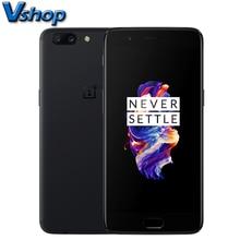 Оригинальный OnePlus 5 4 г мобильные телефоны android 7.0 6 ГБ + 64 ГБ Snapdragon 835 Octa core 20.0MP + 16.0MP двойной Камера 5.5 дюймов смартфон