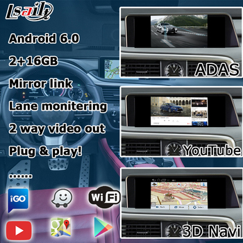 Android GPS navigation box for Lexus RX 2016-2019 12 3 video