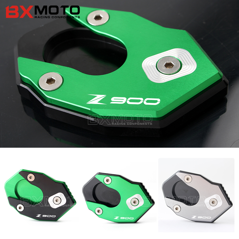 BXMOTO Motorcycle accessories CNC Aluminum Side Stand Enlarger extension pad for <font><b>kawasaki</b></font> Z900 <font><b>Z</b></font> <font><b>900</b></font> <font><b>2017</b></font> image
