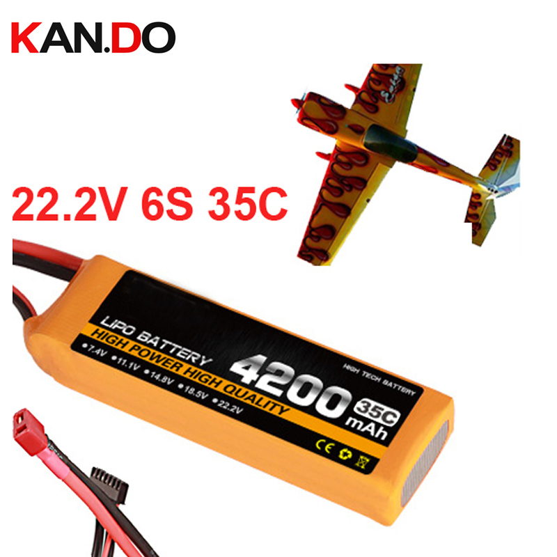 6s 35c 22 2v 4200mah airplane model battery 35C aeromodeling battery model aircraft lithium polymer battery