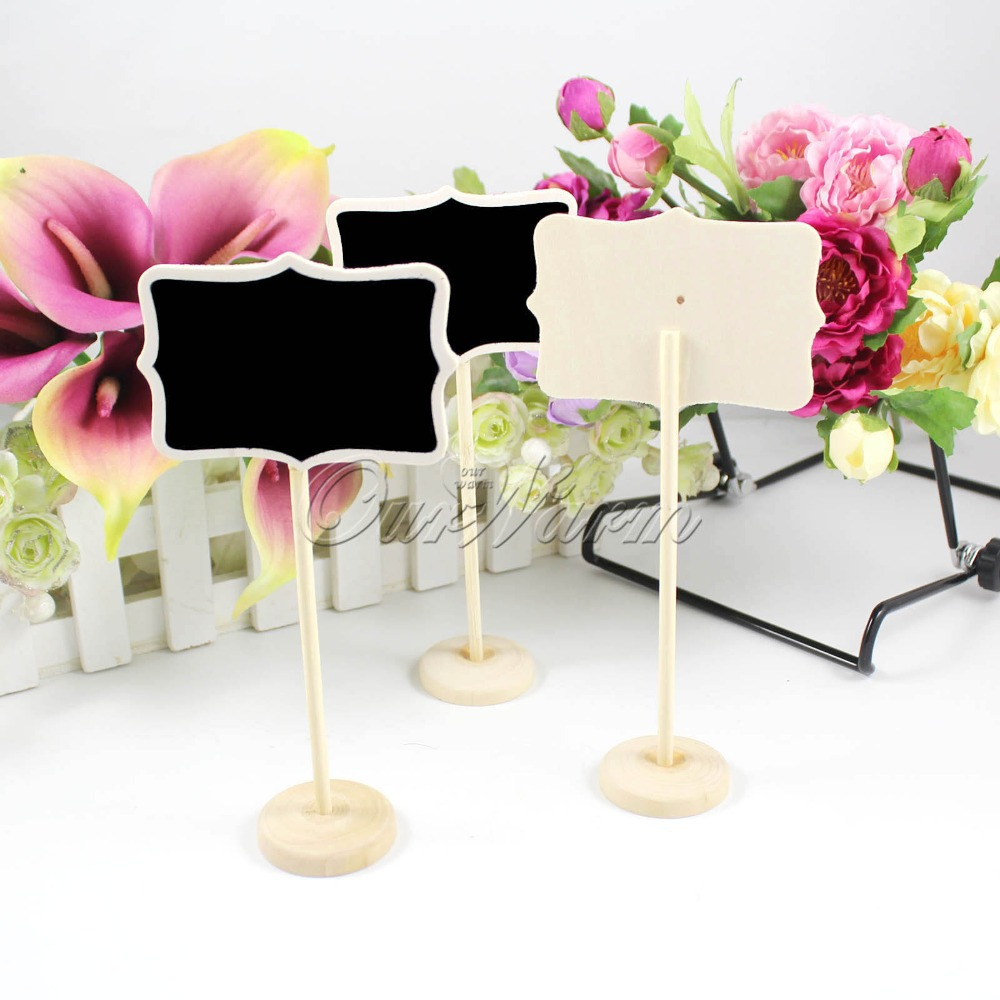 24pcslot mini wooden table numbers chalkboard blackboard card 24pcslot mini wooden table numbers chalkboard blackboard card holder table number for wedding decoration event party supplies in party diy decorations from reviewsmspy