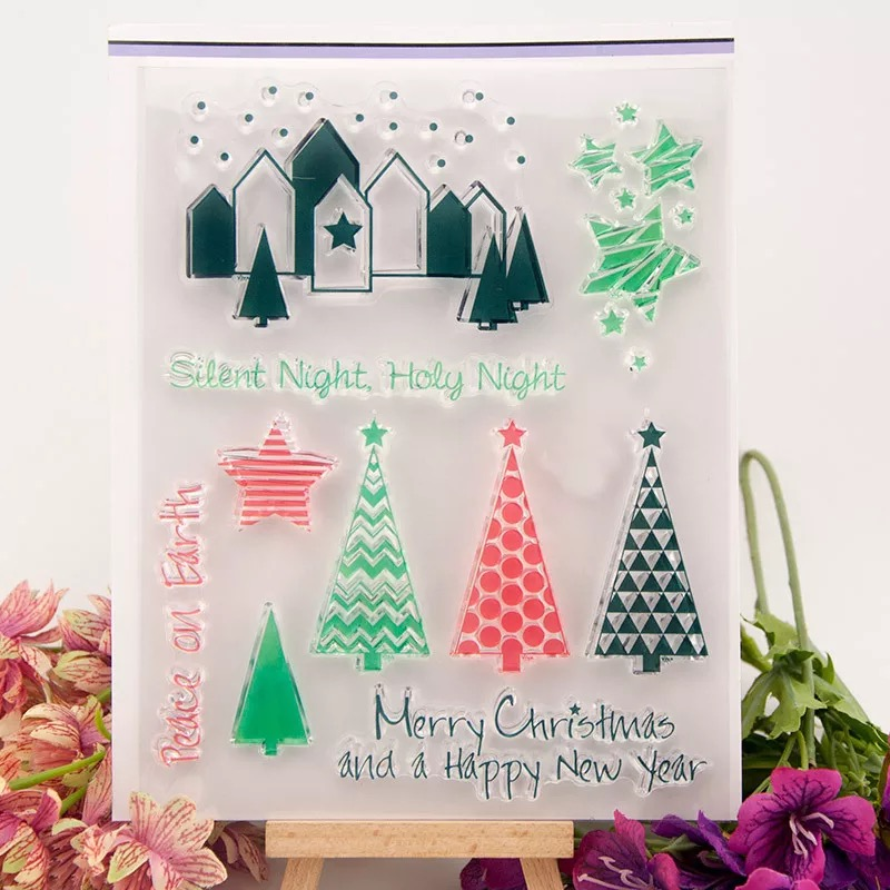 Christmas Tree/happy New Year/Transparent Clear Stamps For