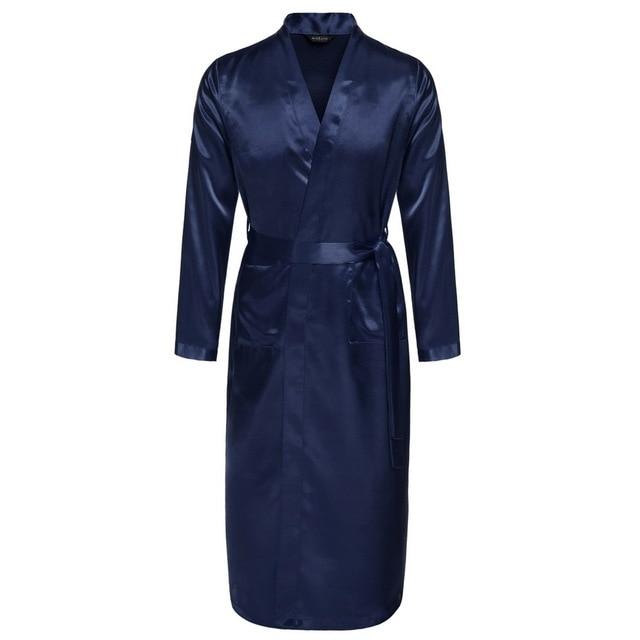 Avidlove Men Robes Long Satin Bathrobe Lightweight Sleepwear