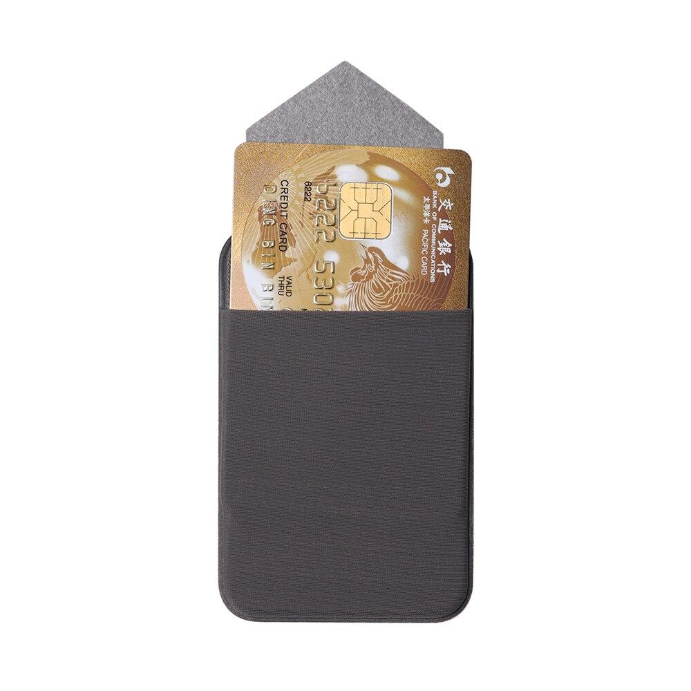 1 Pc Kredit Id Karte Halter Klebstoff Aufkleber Tasche Mode Elastische Handy Brieftasche Karte Halter Fall Leder Handy Tasche