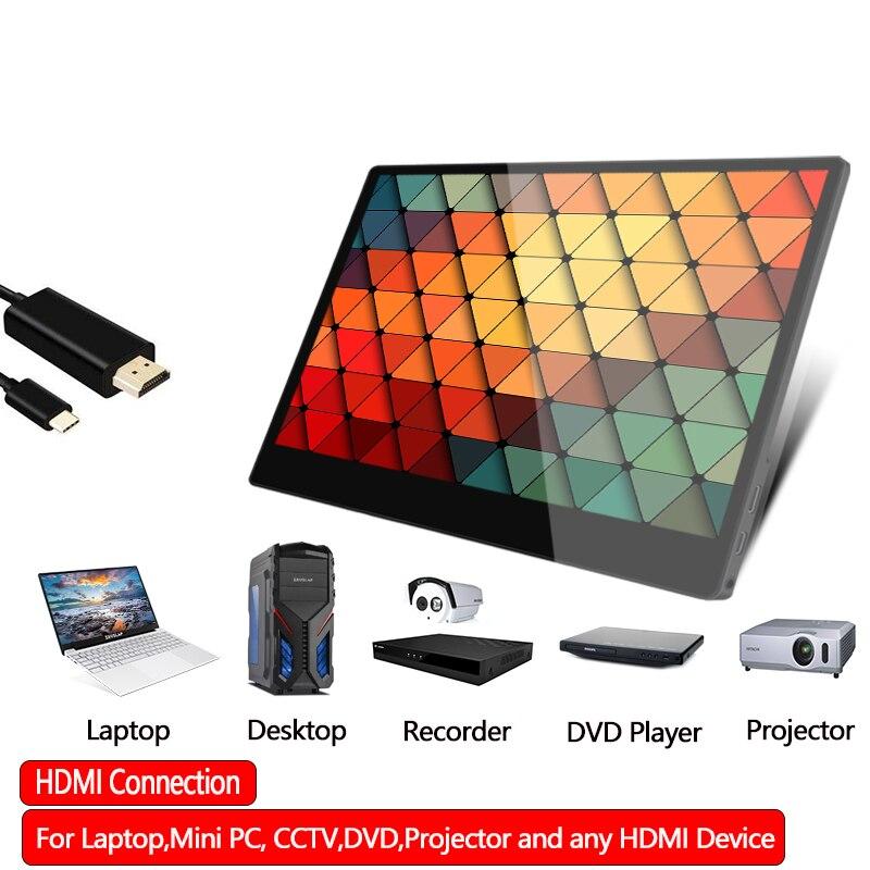 13.3 pouces écran tactile Portable moniteur 1920*1080 P IPS LCD écran d'affichage pour PS3/PS4 pour HDMI pour XBOX One jeu cadeaux