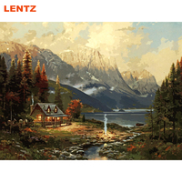 Landscape Beautiful Village DIY Painting By Numbers Handpainted Oil Painting Home Wall Decoration Artwork Living Room