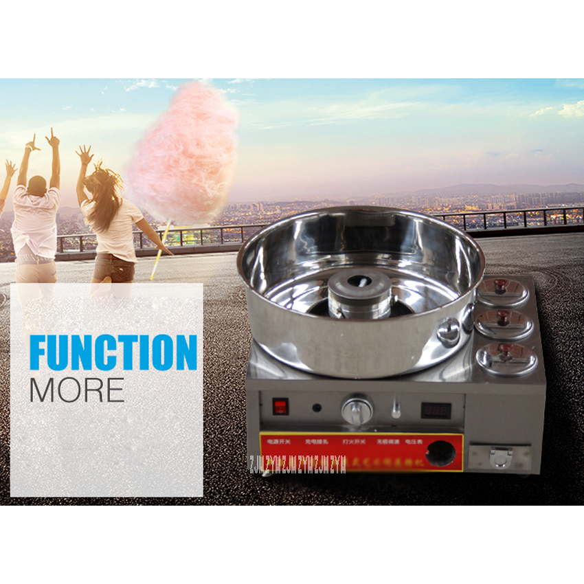 Fancy Gas Cotton Candy Maker Candyfloss DIY Sugar Floss Flower Type Commercial Cotton Candy Machine Stainless Steel SKT-1 220V цена