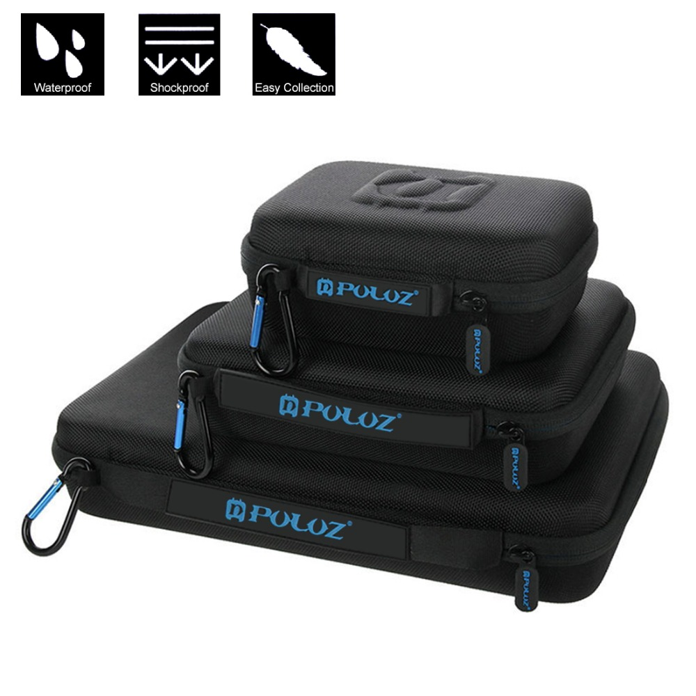 Portable Storage Camera Bag Waterproof Carrying Travel Case stocker for GoPro HERO5 4 Session HERO 5 4 3 Camera Accessories