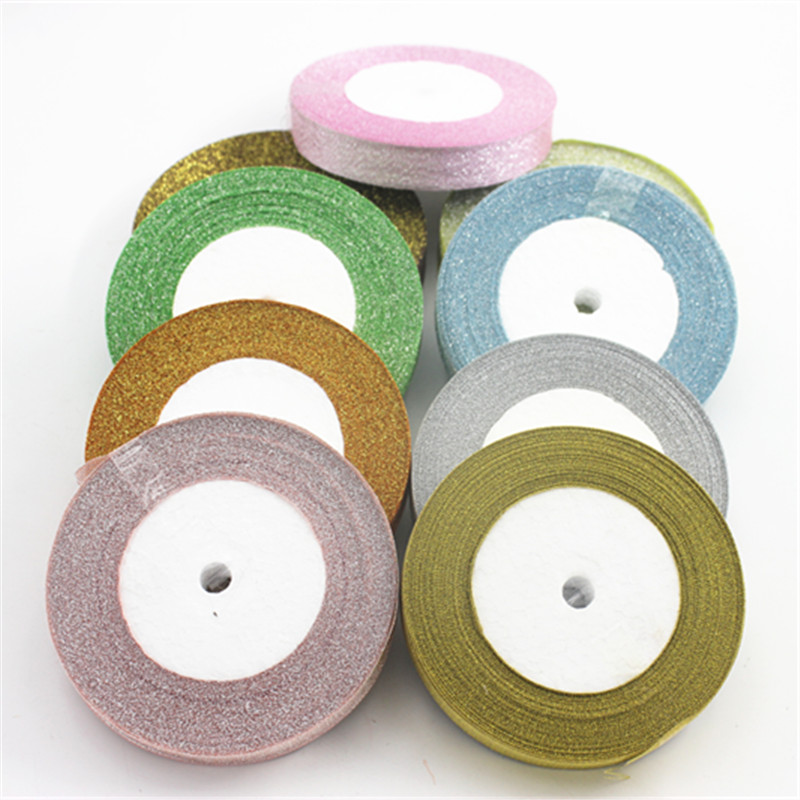 25 Meters Brightness 22 M Wedding Decoration New Year Christmas Gift Wrap Ribbon DIY Material 15MM.