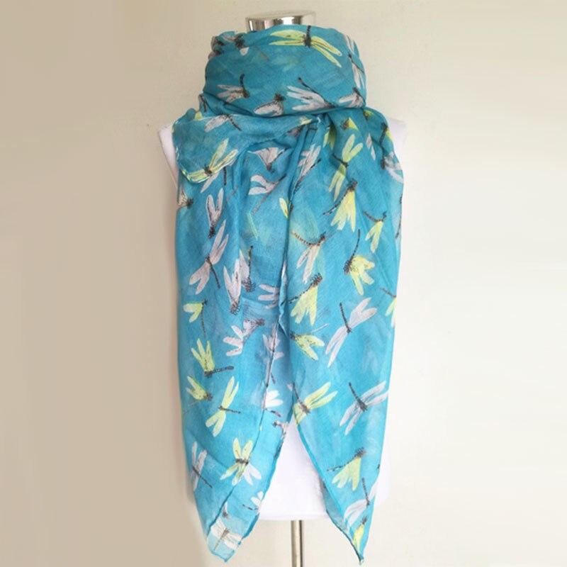 Nouveauté mode imprimé animal écharpe libellule dames foulards - Accessoires pour vêtements - Photo 5