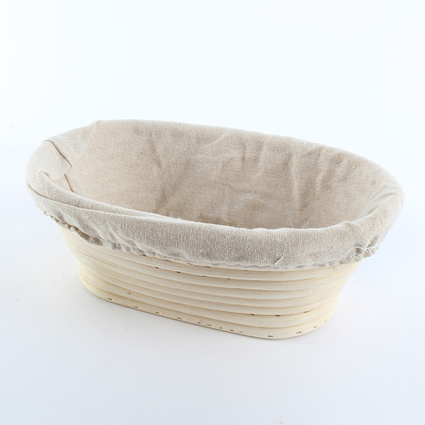 2017 Fashion Oval Banneton Brotform Cane Bread Dough Proofing Proving Rattan Liner Basket