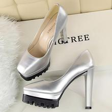 MANMITU10-Free Drop Shiping NEW Vogue Occident Autumn Single Shoes Women Platform Pumps Round Toe Fashion Sexy High Heels 12cm