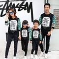 2017 семьи сопоставления одежда мать отец дочь сын костюмы одежда толстовки кофты семья посмотрите harajuku спортивный костюм