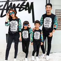 2016 Family Matching Clothes Mother Father Daughter Son Outfits Clothes Hoodies Sweatshirts Family Look Harajuku Tracksuit