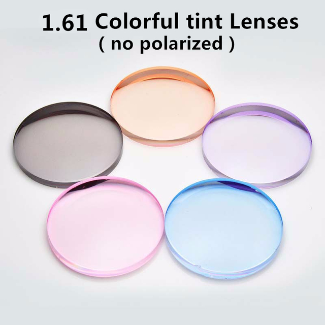 1.61 Index optical Colorful Resin Lenses Single Vision With Tinting Prescription Sunglasses lens