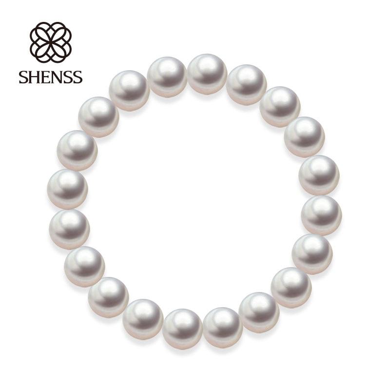 Quality Shell Pearl Bracelet Elastic or Chain Customizable Women's Bracelets of Various Sizes