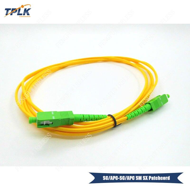 100pcs lot SC APC Simplex Singlemode 2M Optical Fiber patchcord LSZH