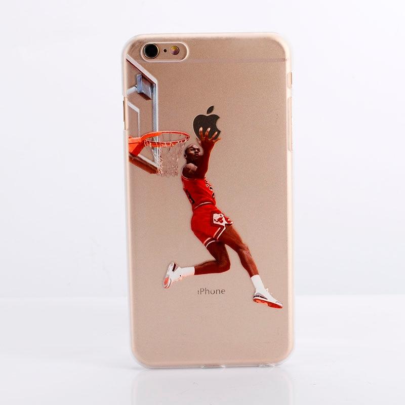 free shipping 0ebf9 2e7dc US $1.68 |NBA phone case Soft TPU phone back cover Curry michael jordan  James For iPhone 6 6s 6Plus & for iphone 7 7Plus Phone Cases on  Aliexpress.com ...