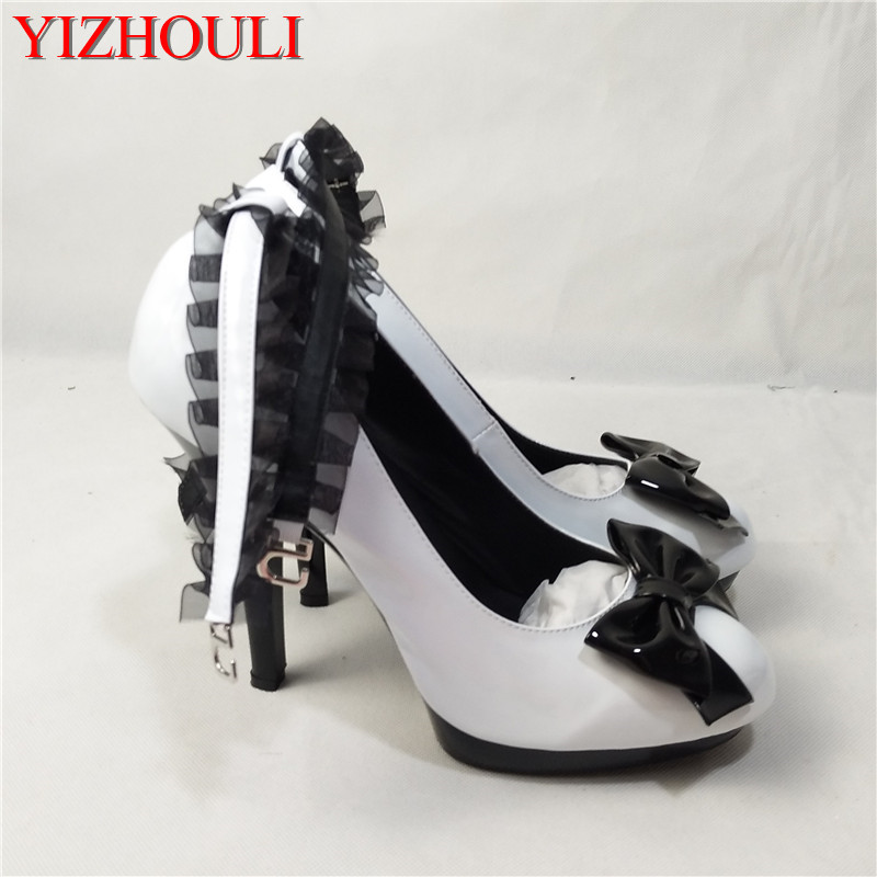 Waterproof bowknot adornment excessive heels Extremely fantastic with 15 cm excessive single simulation leather-based footwear assist hate day dancing footwear excessive heels, excessive excessive heels, extremely excessive heels,Low-cost excessive...