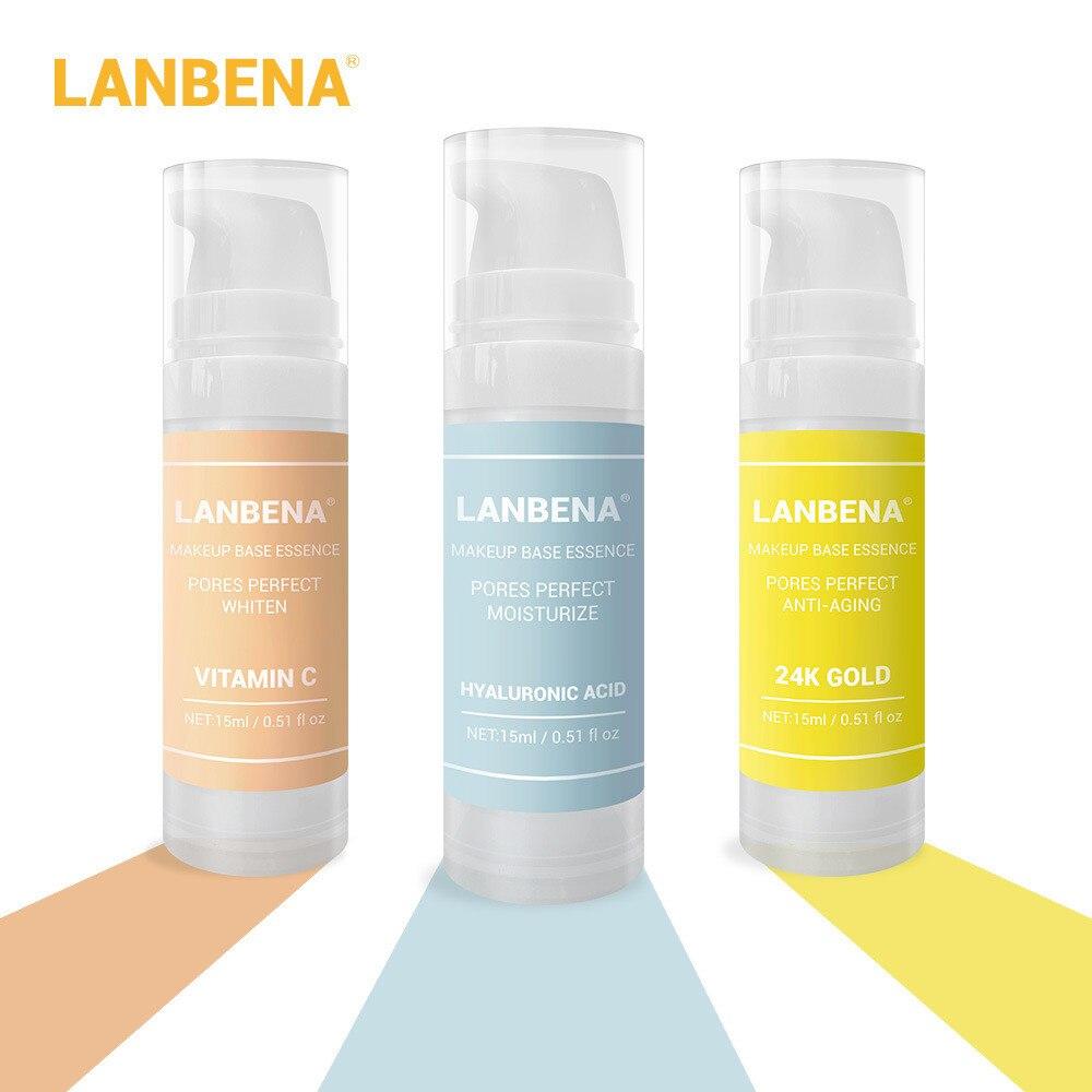LANBENA Base de maquillaje esencia Primer suero facial hidratante Control de aceite cosmético cuidado de la piel reafirmante protector solar Base para el cuidado de la piel