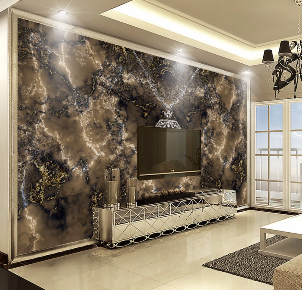 Bacaz Art black Abstract marble texture diamond mural 3d wallpaper for living room sofa background bed room wallpapers deco