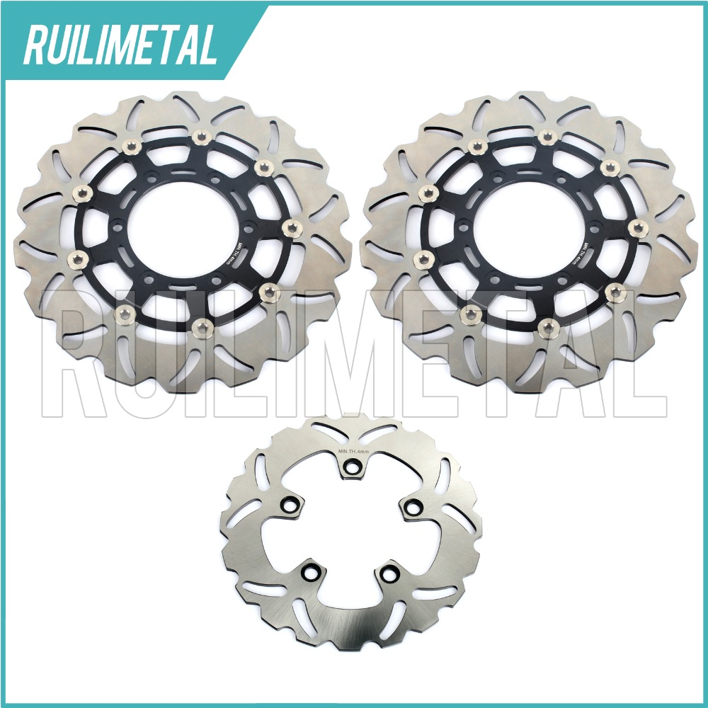 Full Set Front Rear Brake Discs Rotors for Suzuki GSXR 600 750 08-15 10 11 12 13 14 K8 K9 GSX-R 1000 2009-2015 2014 2013 2012 adjustable long folding clutch brake levers for kawasaki z1000 07 08 09 10 11 12 13 14 15 z1000sx tourer 2012 2013 2014 2015