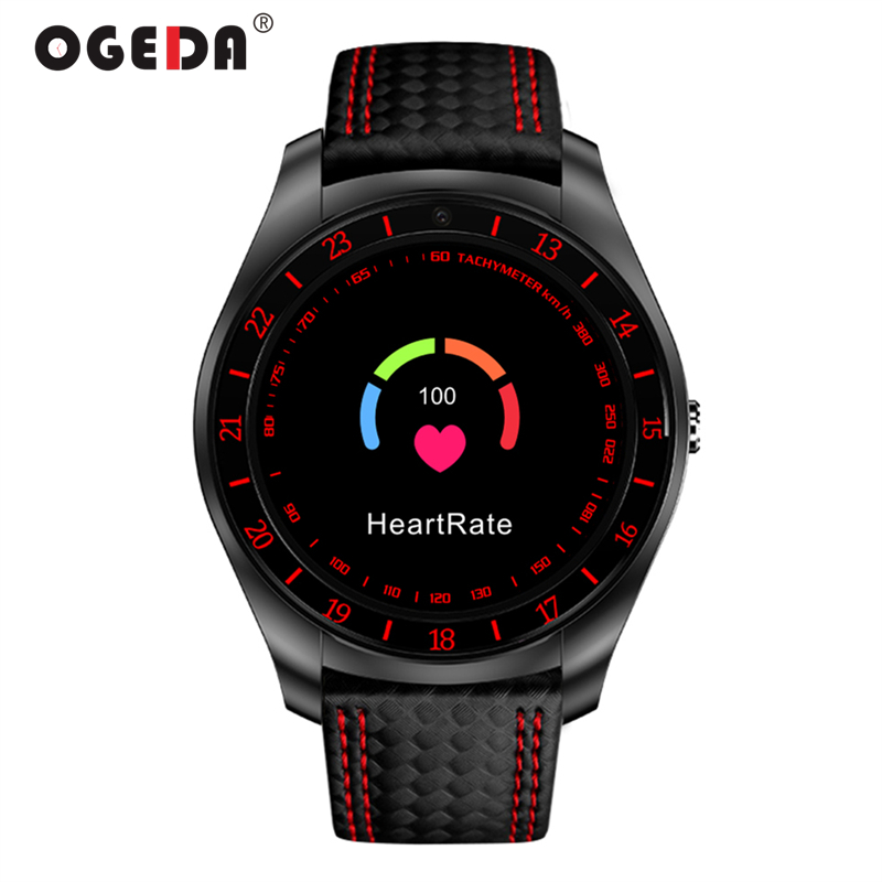 <font><b>V10</b></font> OGEDA Men Smart Watch with Camera Intelligent Bluetooth <font><b>Smartwatch</b></font> SIM Card Wristwatch for Android Phone Wearable Devices image