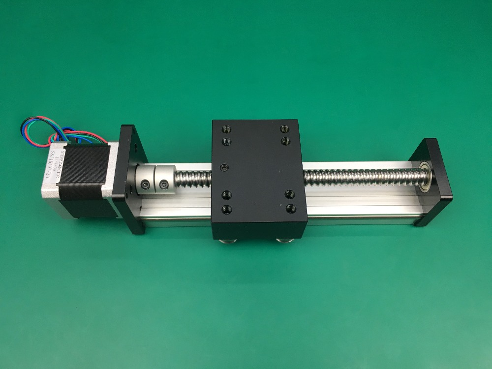 High Precision SGK Ballscrew 1610 500mm 600mm Travel Linear Guide+ Nema 17 Stepper Motor CNC Stage Linear Motion Moulde Linear toothed belt drive motorized stepper motor precision guide rail manufacturer guideway