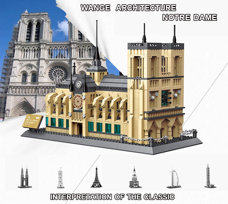 The Notre Dame Cathedral  of Paris Building Blocks