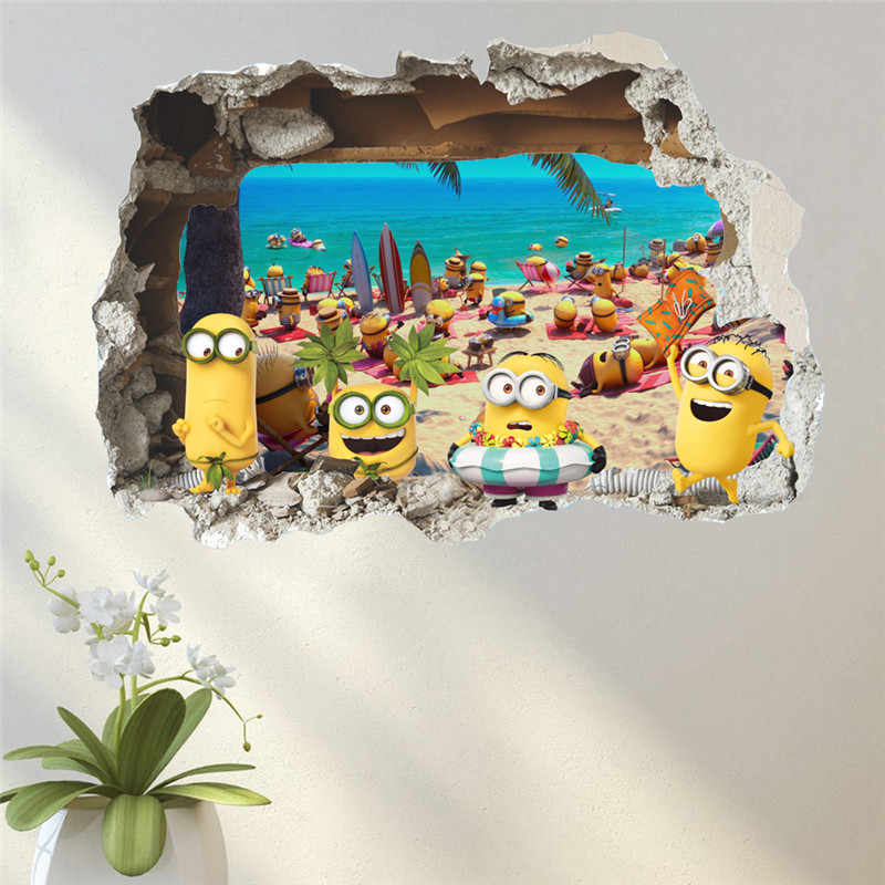 Funny cartoon wall stickers for kids rooms children bedroom Decoration wall decal birthday gift mural poster.