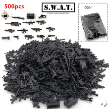 500pcs RANDOM Military Series Guns Weapons for Minifigures SWAT CITY Army Assemble Building Blocks Kids Education Learning Toys