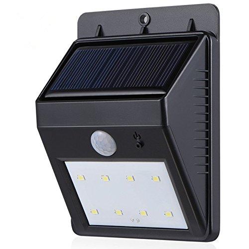 1set outdoor waterproof motion PIR sensor solar wall led lights.8 leds solar wall lamp for garden yard deck.