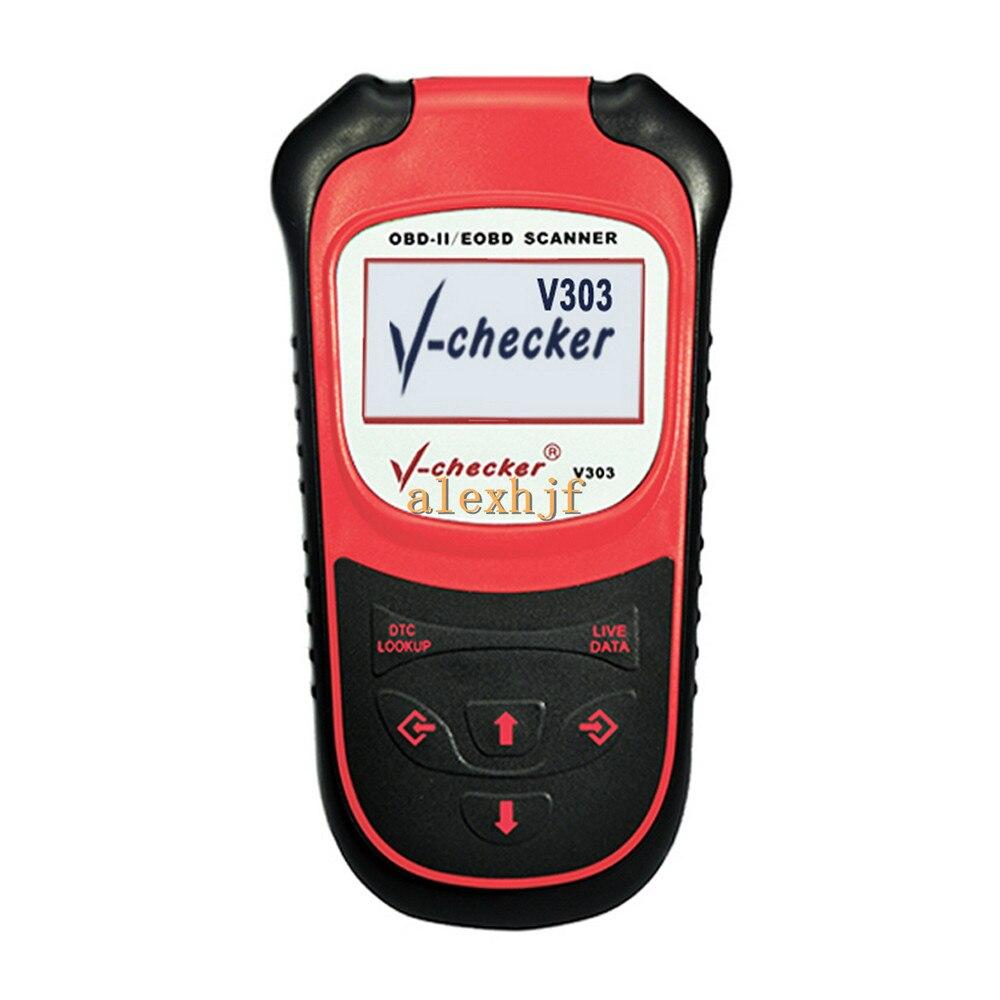 V-checker V303 OBDII / EOBD Diagnostic Scanner OBD2 Scanner, Supports All OBD Standard Tests And Adds Original Decoding FunctionV-checker V303 OBDII / EOBD Diagnostic Scanner OBD2 Scanner, Supports All OBD Standard Tests And Adds Original Decoding Function