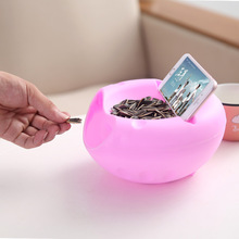A1 Containers Snacks Seeds Storage Box Garbage Holder Plate Dish Organizer With Phone holderCreative Bowl Double LU11141659