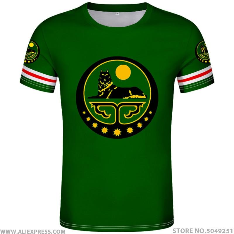 CHECHNYA Shirt Free Custom Made Name Number Grozny T-shirt Print Flag Word Russian Russia Rossiya Argun Gudermes Chechen Clothes