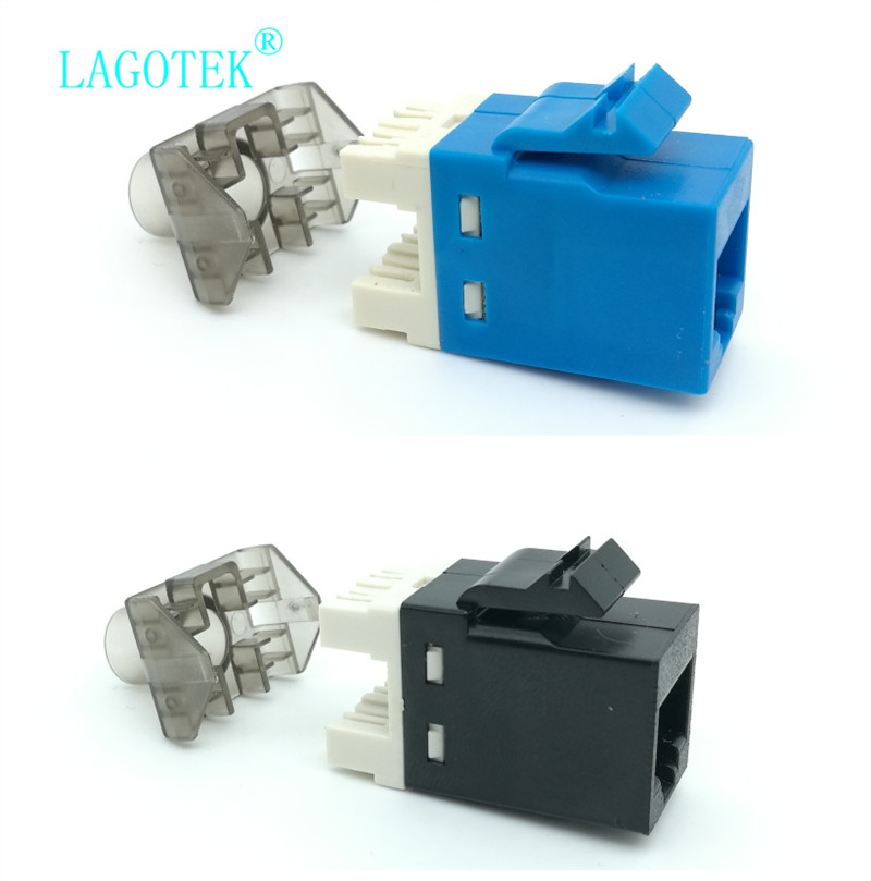 10pcs/lot Gigabit CAT6 UTP RJ45 Connector CAT6 Module Information Socket Computer Outlet Network Cable Adapter Keystone Jack