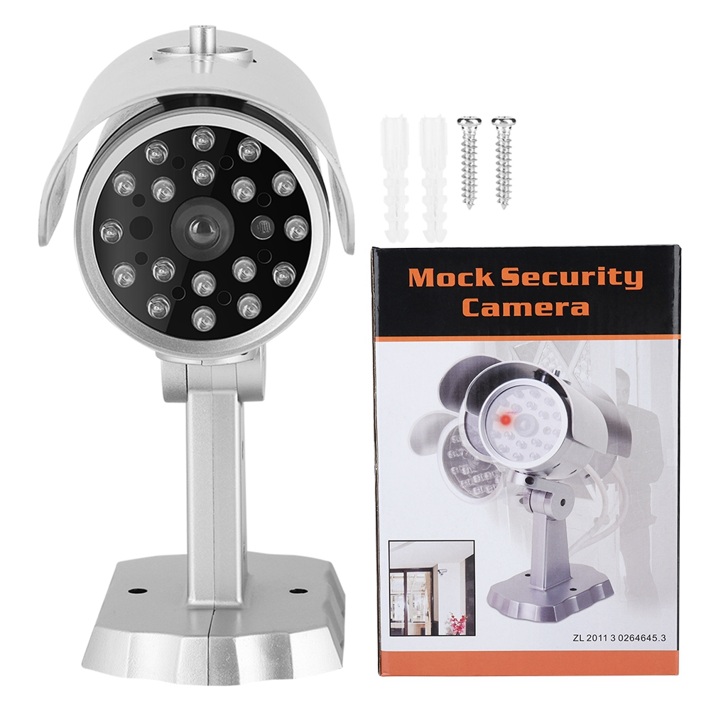 SOONHUA MR-1900 Dummy Surveillance Security Camera Dummy Cameras With LED Lights Flashing Camera ToolsSOONHUA MR-1900 Dummy Surveillance Security Camera Dummy Cameras With LED Lights Flashing Camera Tools