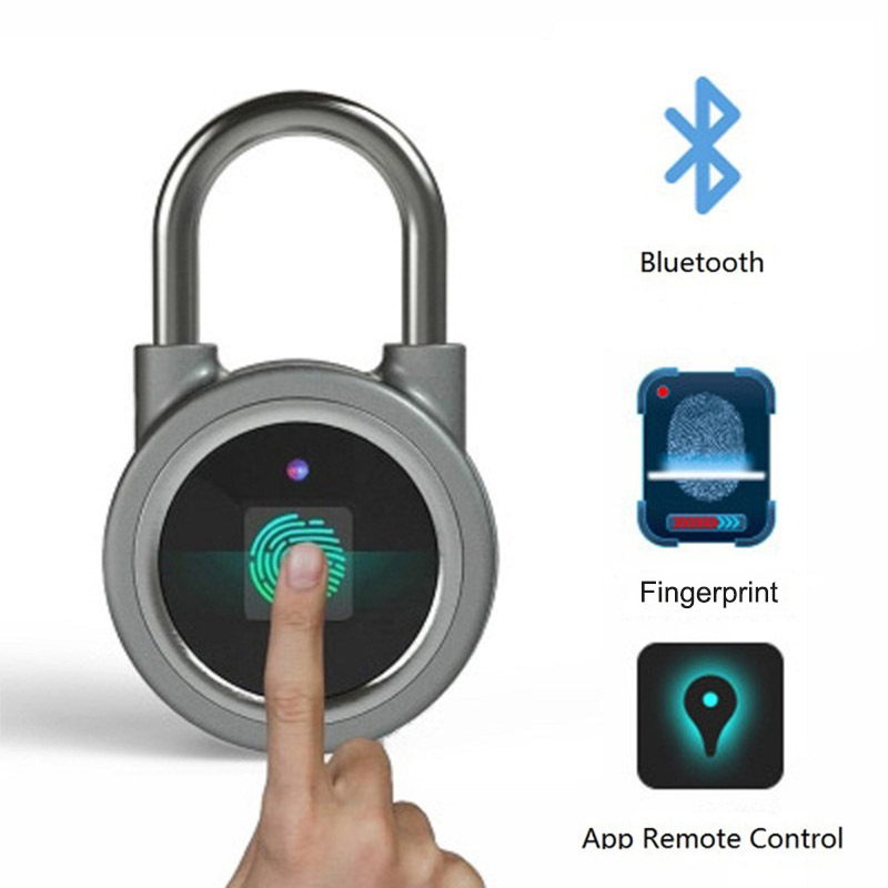 Smart Fingerprint Lock Keyless Lock Bluetooth APP Fingerprint Unlock Anti Theft Padlock Door Lock for Android