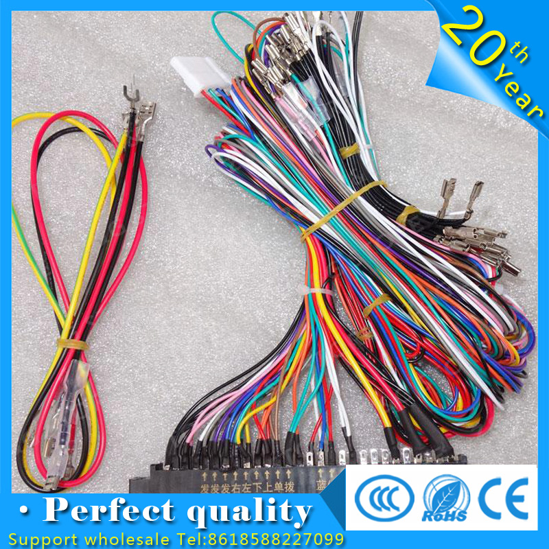 Jamma Harness with 5, 6 action button wires/Jamma 28 pin with 5,6 buttons wires for arcade game machine/cabinet accessories
