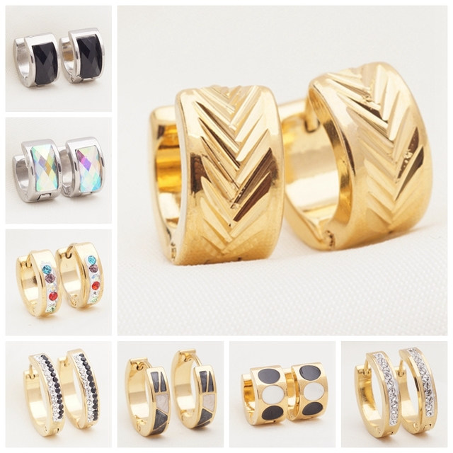 Yunkingdom 32 Pairs Different Style Fashion Crystal Stainless Steel Small Hoop Earrings for Women and Men.jpg 640x640 - Yunkingdom 32 Pairs Different Style Fashion Crystal Stainless Steel Small Hoop Earrings for Women and Men Jewelry Wholesale