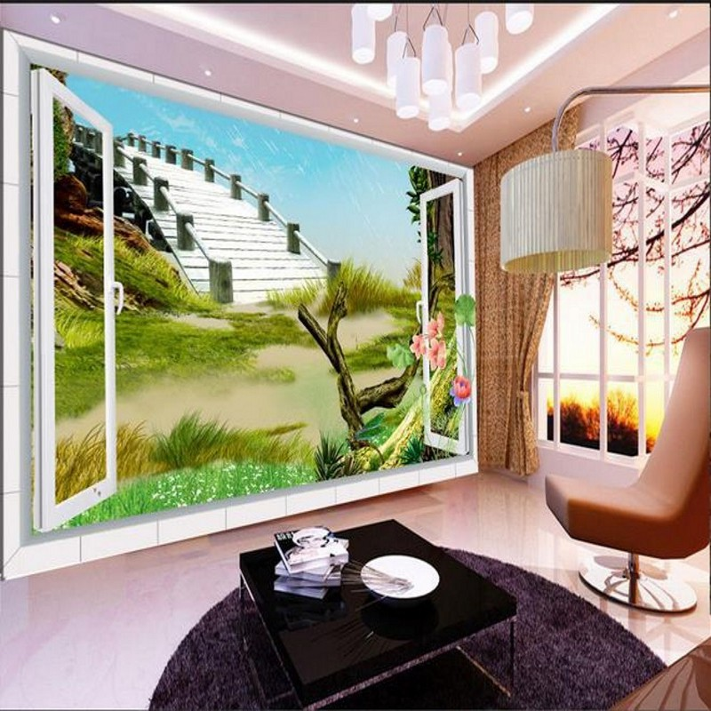 Beibehang 3d Stereoscopic Wallpaper Customize Size High Quickly HD Mural 3d Wall Paper Green Plant Papel Photo Wall Paper