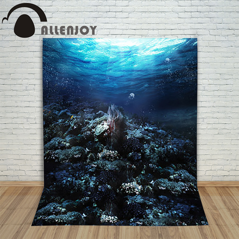 Allenjoy photography theme background Mermaid legend Marine coral shell jellyfish backdrop mysterious elegant photography props