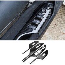 ABS карбоновое волокно стиль стекло Лифт украшение крышка автомобильные аксессуары для Honda Civic 10th gen LHD